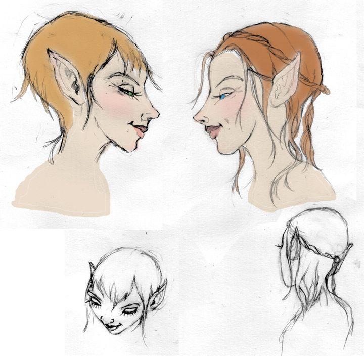 elves sketch ©Cristie Henry