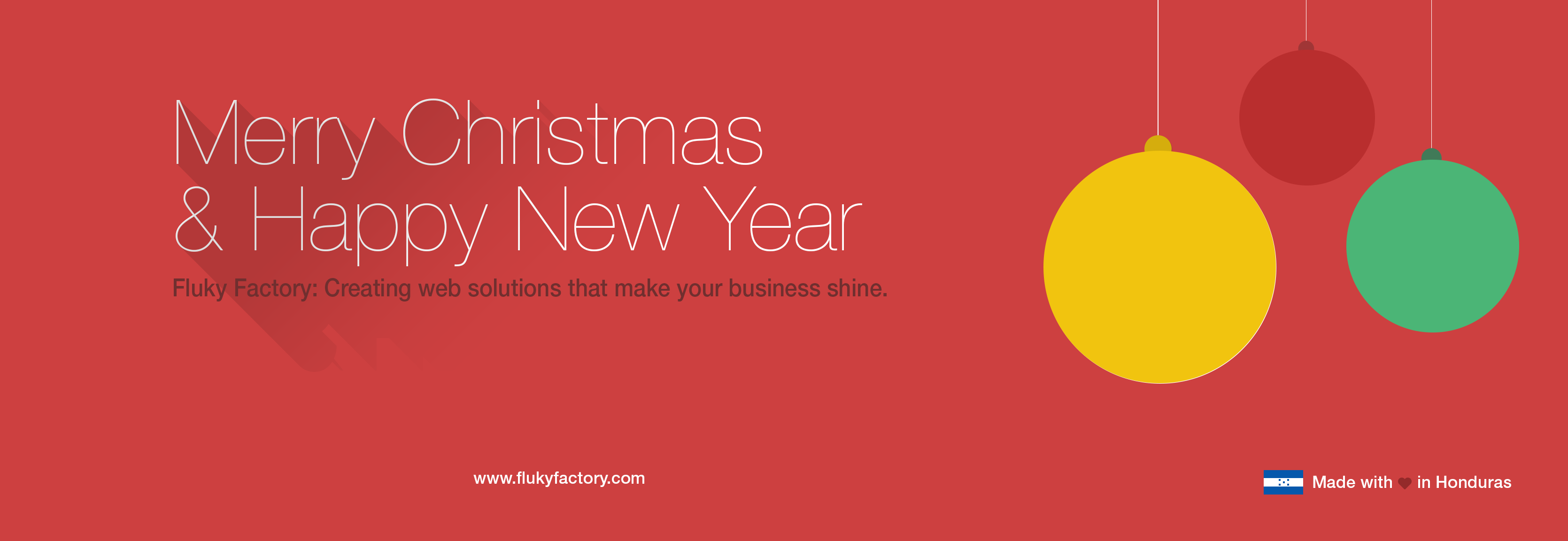 Merry Christmas and Happy New Year from FLUKY FACTORY