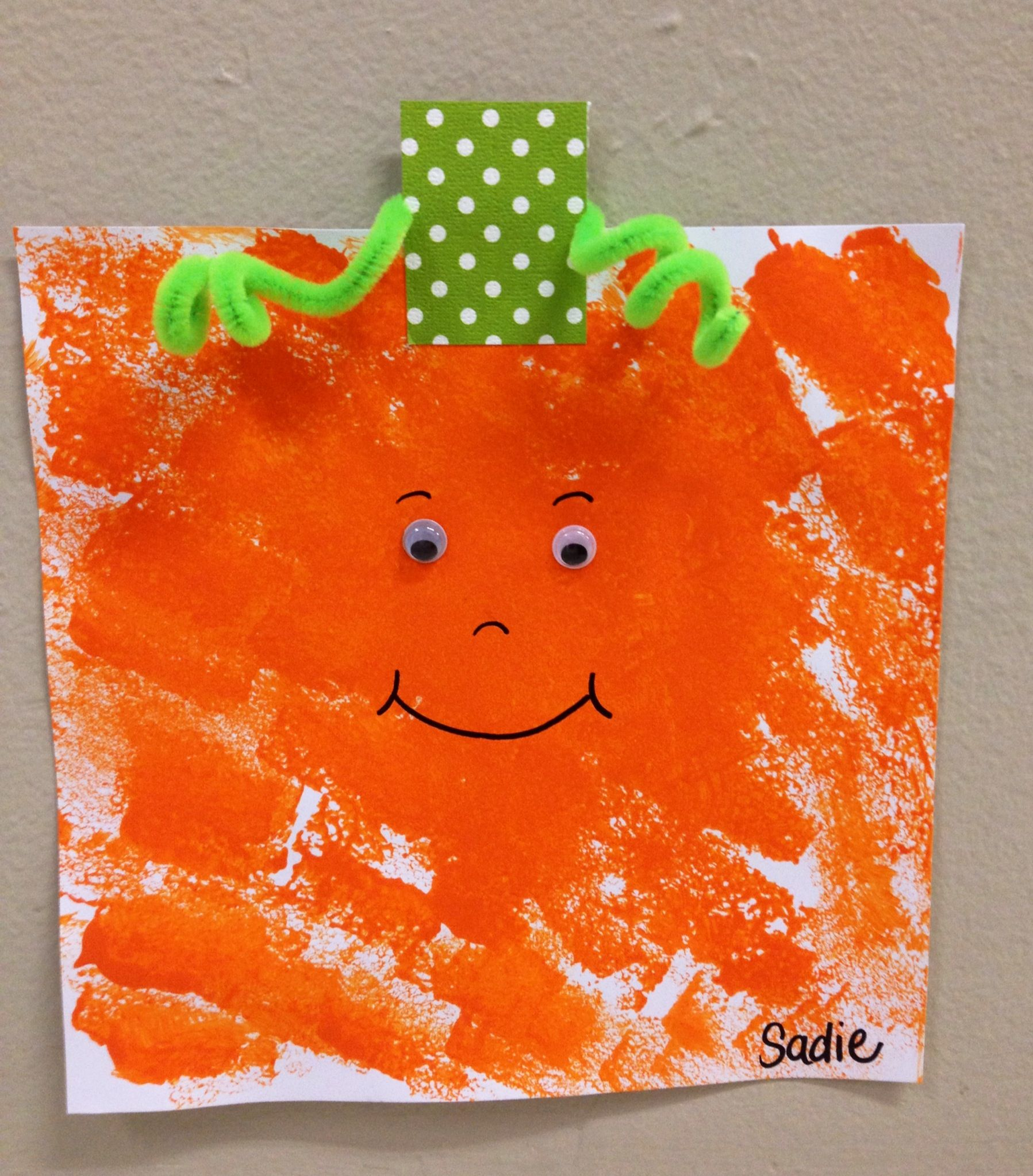 Spookley The Square Pumpkin Sponge Painting With Images