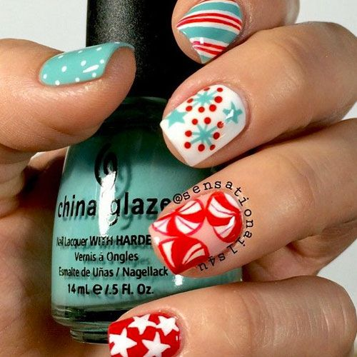 Christmas Nail Art Designs - 47 Designs To Inspire You! Christmas