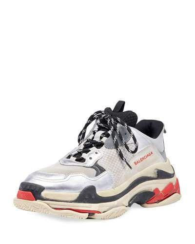 more photos 3d876 b4bc9 BALENCIAGA TRIPLE S MESH   LEATHER SNEAKER.  balenciaga  shoes