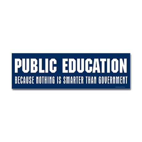 Public education bumper bumper sticker