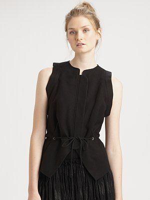 See by Chloe Drawstring-Waist Vest