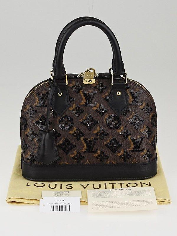 7d3d9bb06a1 Louis Vuitton Limited Edition Monogram Eclipse Alma BB Bag   Mi ...