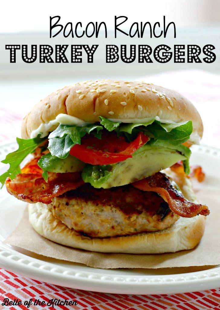 Bacon Ranch Turkey Burgers Recipe Turkey Burger Recipes Turkey Burgers Food Recipes