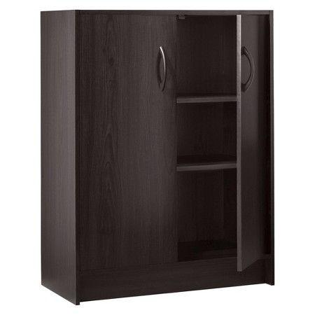 2 Door Organizer Cabinet Espresso Room Essentials Target Door Organizer Room Essentials Storage Cabinets