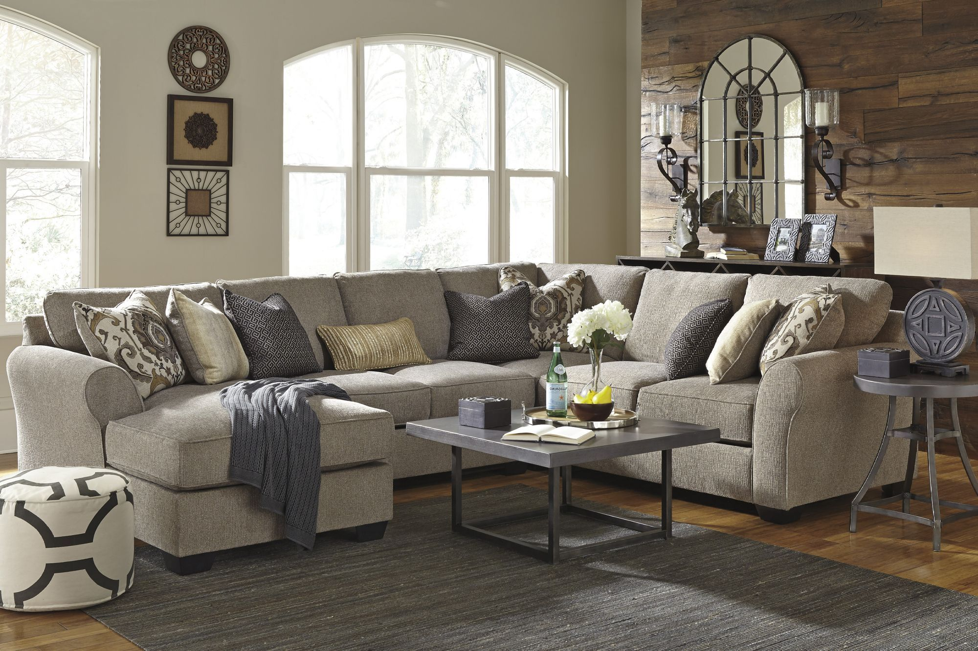 Pantomine 4 Piece Sectional Woodstock Furniture Outlet Suburban Furniture Livingroom Layout Brown Living Room Decor