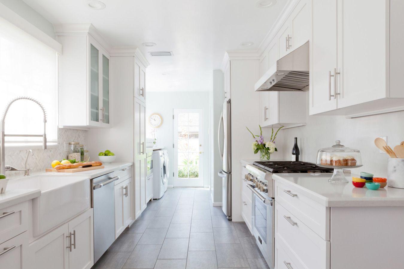 The Dreamiest La Kitchen Homepolish Galley Kitchen Design Kitchen Remodel White Galley Kitchens