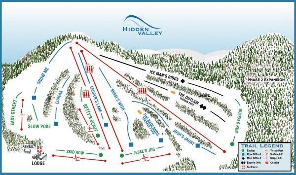 Hidden Valley Ski Ride Tube Ski Trip Ski Resort Resort