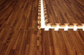 Photo of Premium Soft Wood Tiles – Interlocking Foam Mats