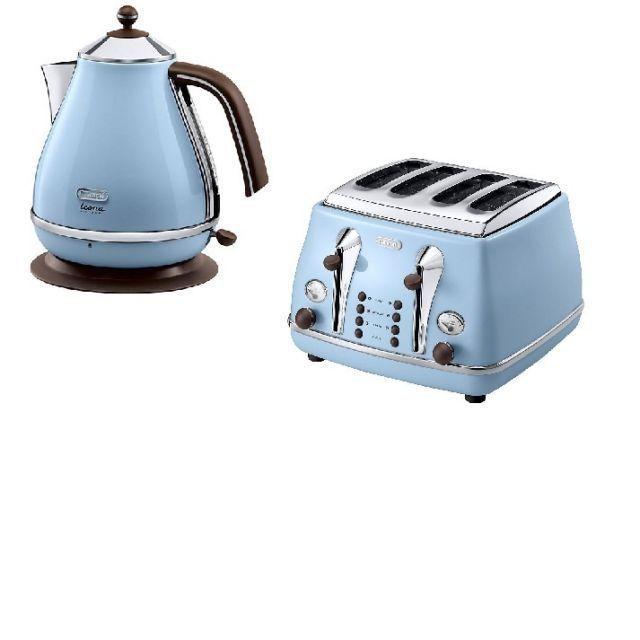 Delonghi Icona Vintage Kettle Toaster Set Azure Blue Brand New Kettle And Toaster Set Kettle And Toaster Delonghi Icona