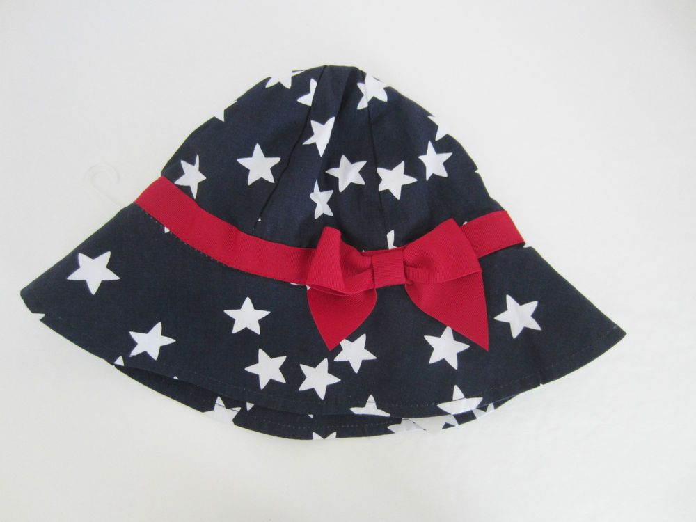 Gymboree Baby Stars and Stripes Sun Hat 100% Cotton Red White Blue NWT   Gymboree 34bbf1392060