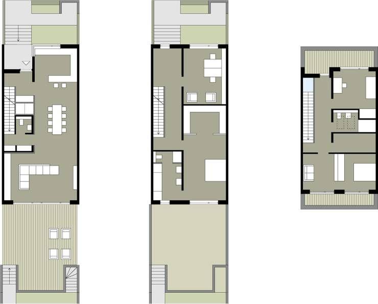 wie wird ein reihenhaus individuell grundrisse reihenhaus und stadthaus. Black Bedroom Furniture Sets. Home Design Ideas