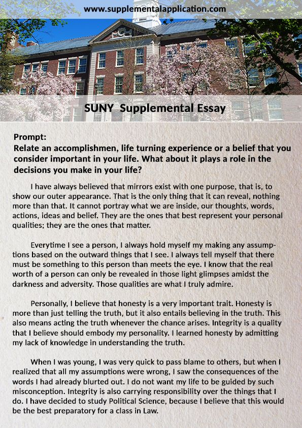 Suny supplemental essay supplementalapplication pinterest