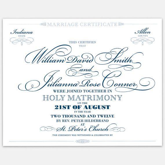 a fancy marriage certificate
