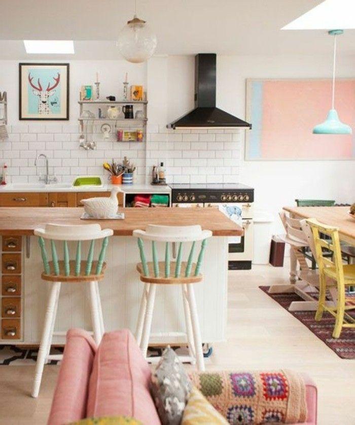 cucina con open space soggiorno e sala da pranzo con