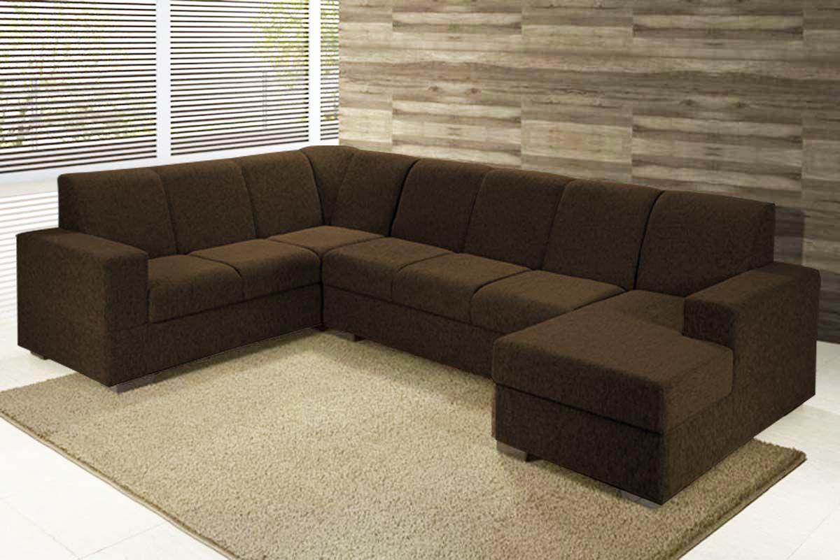 Sofá de canto com Chaise   Sofá de canto, Modelos de sofá ...