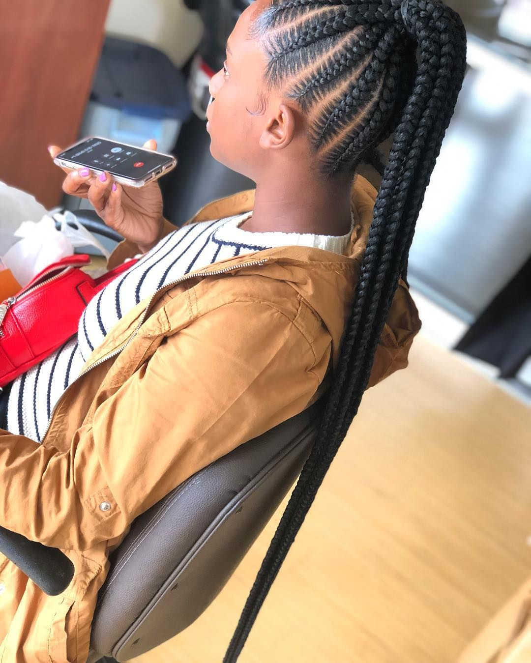 Brag About Braids On Instagram And Done 10 12 Feed In Braids Xtra Long Feed In Braid Braids Instagram