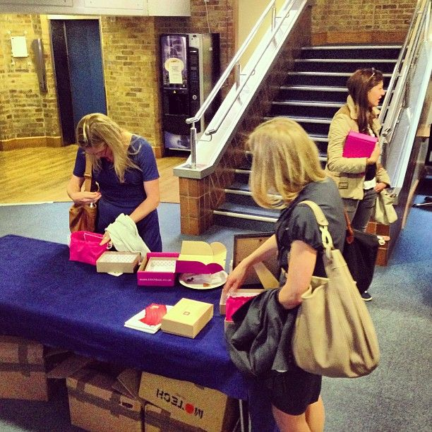Spotted: @birchbox UK unboxing in the halls of @londonbschool