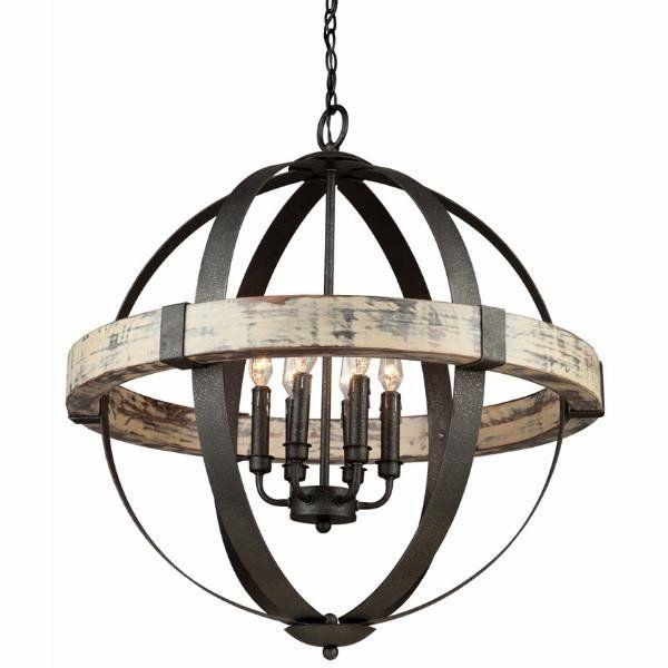 artcraft castello suspendu rond bois et fer forg 26 ac10016 s jour salle manger. Black Bedroom Furniture Sets. Home Design Ideas