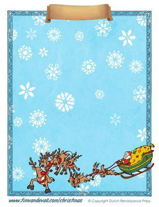 Blank Christmas Paper Template  Christmas Printables