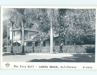 1930 S Rppc City Hall Laguna Beach California Ca Hm3879 Laguna Beach California Laguna Beach California Ca
