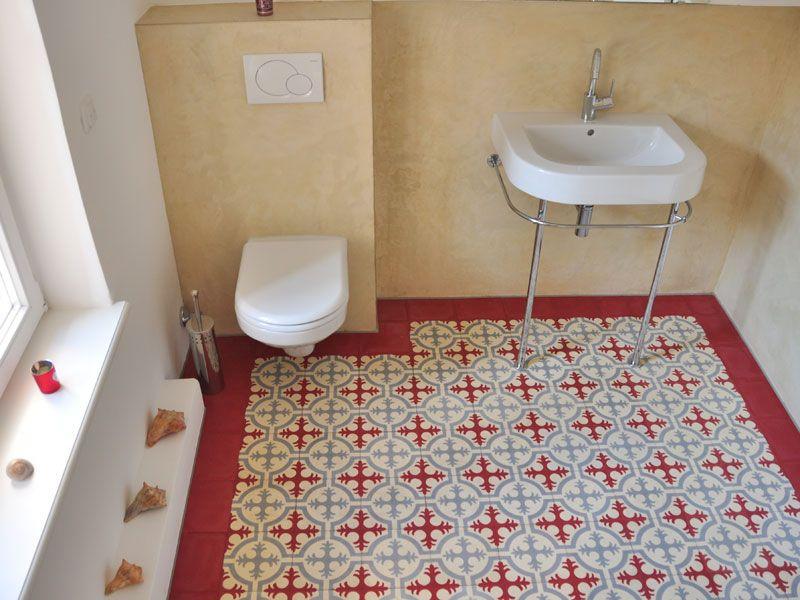 Articima Zementfliesen Im Bad Ref 310 Einrichtung Badezimmer