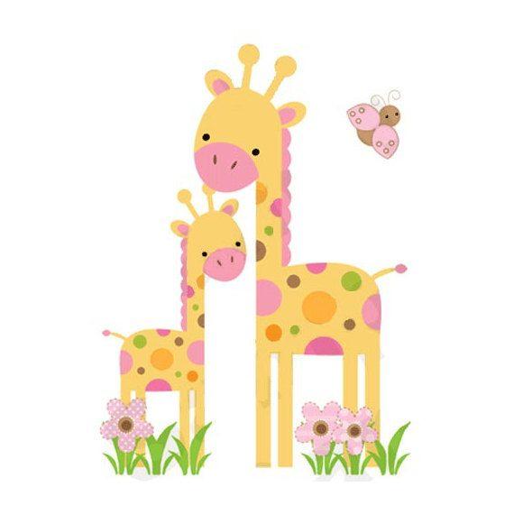 Safari Nursery Decor Giraffe Decal Jungle Animals Wall Art Stickers ...