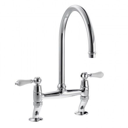 Abode LUDLOW Bridge Tap in Chrome | Traditional Kitchen Taps ...