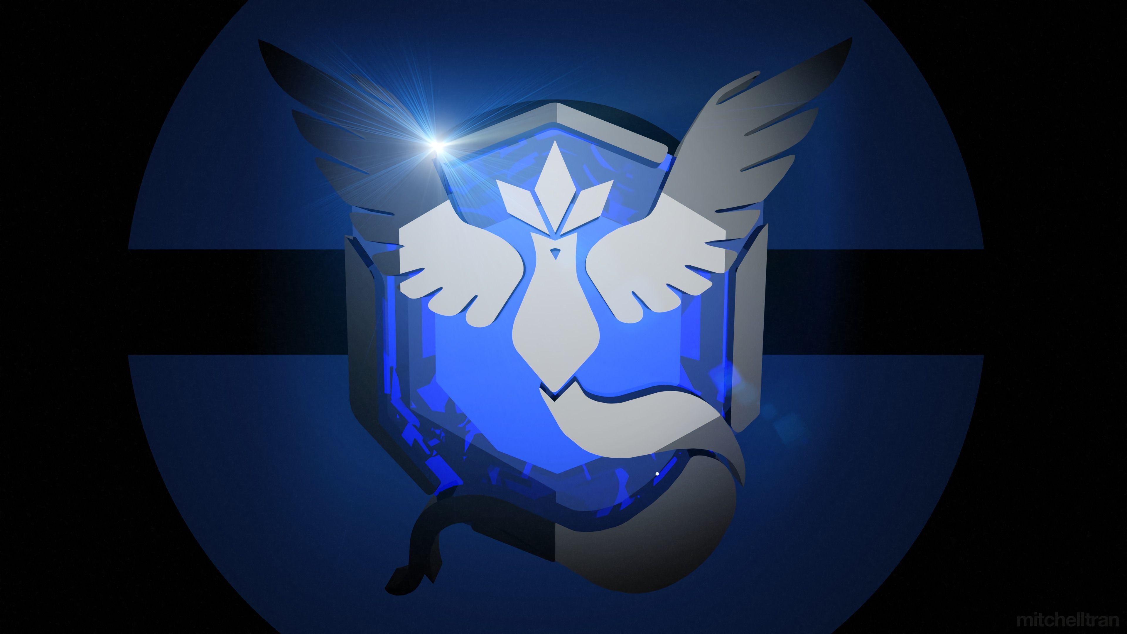 Download Team Mystic Pokemon Go Logo Wallpaper 4K