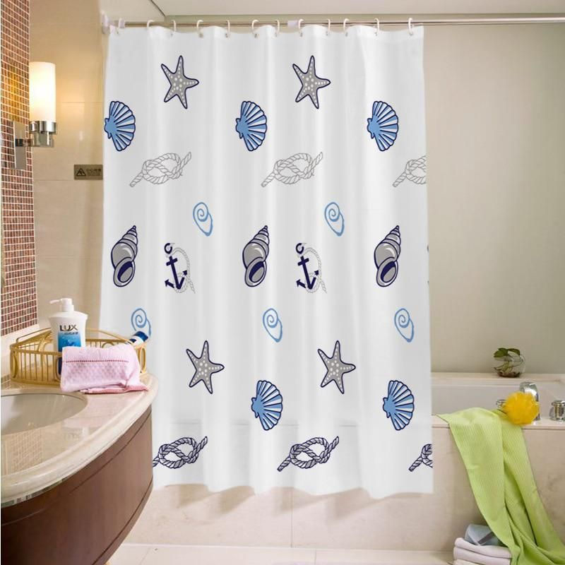 1pc 180 200 All Size Waterproof Shower Curtains Anti Mold Bath