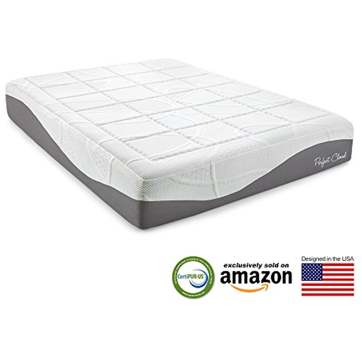 perfect cloud elegance gel pro 12 inch memory foam mattress twin