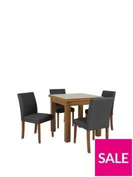 square to rectangle 80 160 cm extending dining table 4 lucca chairs rh pinterest com