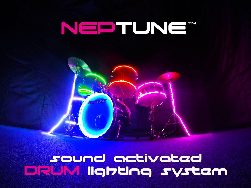 Neptune Drum Lighting System Light Up Drumsticks Drum Light Drums
