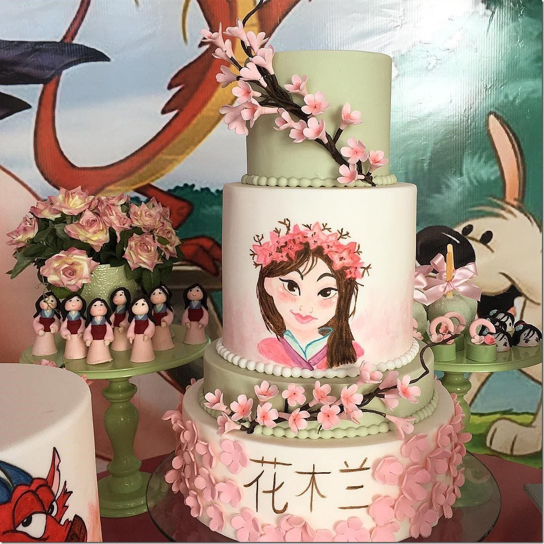 Surprising Lovely Mulan Birthday Party Birthday Party Cake Birthday Parties Funny Birthday Cards Online Alyptdamsfinfo