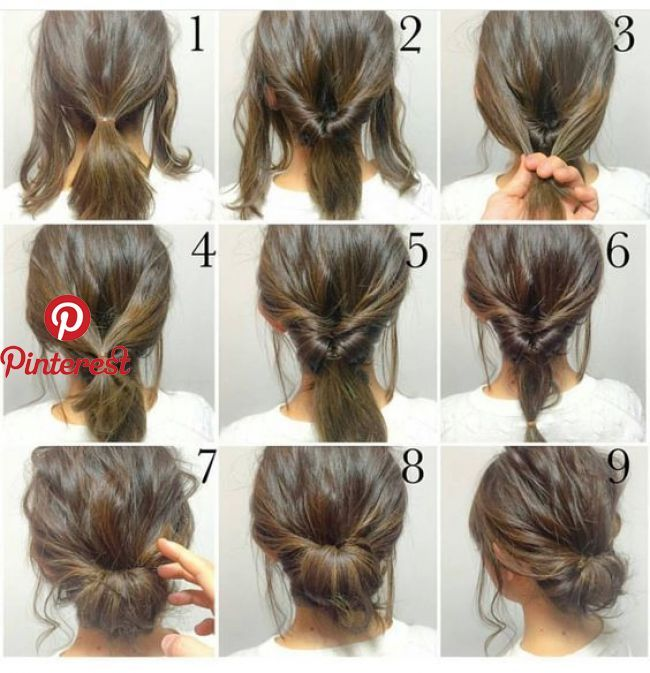 Top 10 Messy Updo Tutorials For Different Hair Lengths Messy Updo Hairstyles Can Do Justice To Any Look Then It Hair Styles Short Hair Styles Work Hairstyles