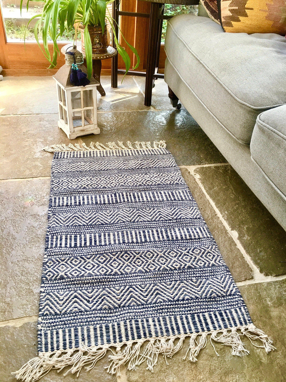 Boho style Scatter rug Tasselled Tufted Textured /Bath mat/   Etsy ...
