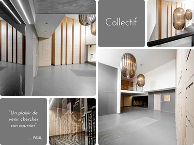 agencement b2B - amenagement -hall-entree-immeuble-saint etienne ...