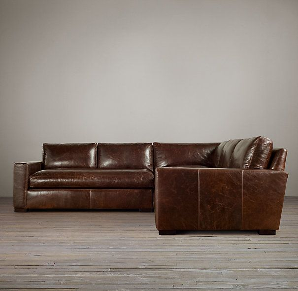 A Leather Sectional In This Style But Made By The Cococo In A Leather That  Works · Restoration HardwareLeather ...