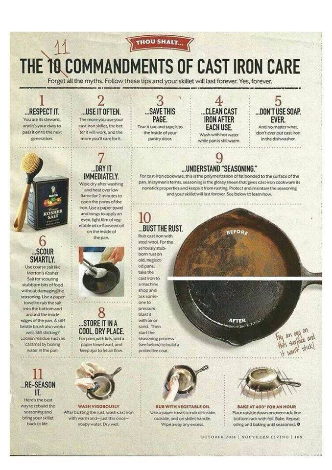How to clean a cast iron pot.