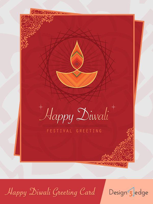 Happy Diwali Greeting Card Design3edge Happy Diwali Diwali Greetings Diwali Greeting Cards