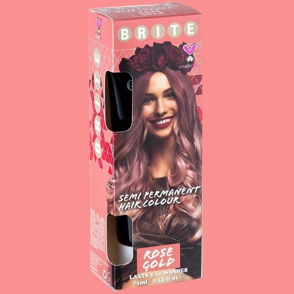 Semi Permanent Rose Gold Permanent Hair Color Temporary Hair
