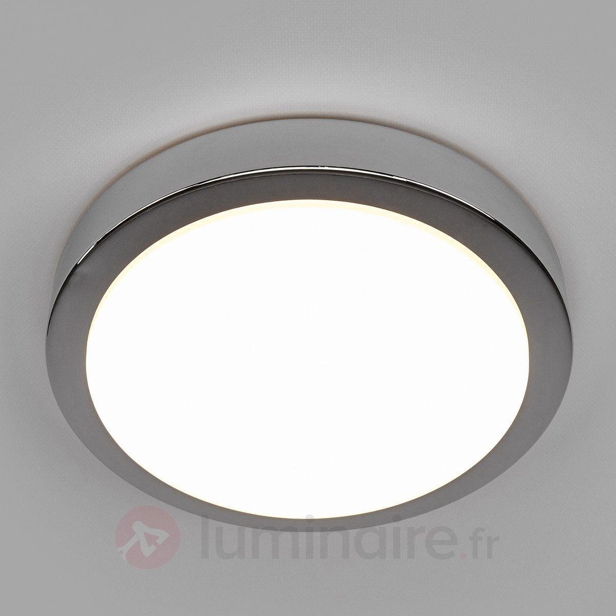 Plafonnier salle de bain LED Aras chromé brillant | LED