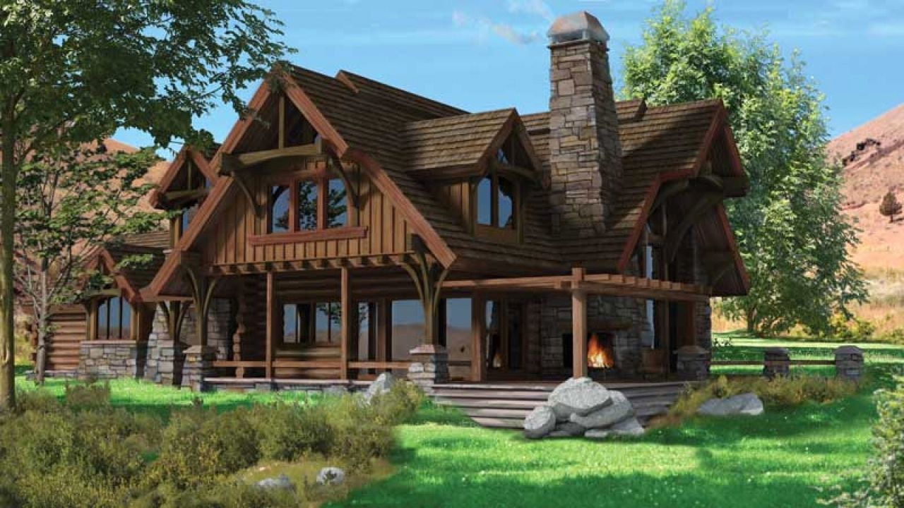 Chalet Style Homes With Attached Garage Prefab Log Cabins Timber House Timber Frame Home Plans