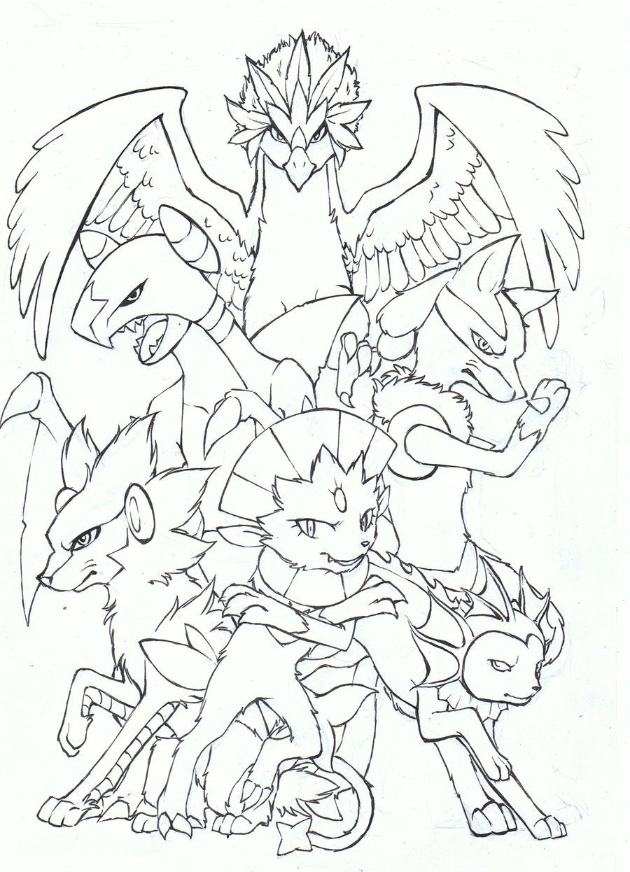 Pokemon team lineart by bluemist72 | LineArt: Pokemon (Detailed ...