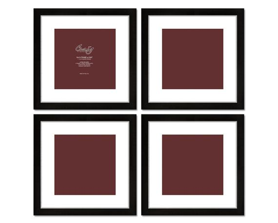 65 99 Four 14 X 14 Black Gallery Frames 10 X 10 With Mat From Etsy Contemporary Style Picture F Black Picture Frames Craig Frames Picture Frame Sets