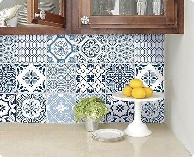 Tile Decoration Stickers Entrancing Wall Tile Sticker Kitchen Bathroom Decorative Decal  Patchwork Review