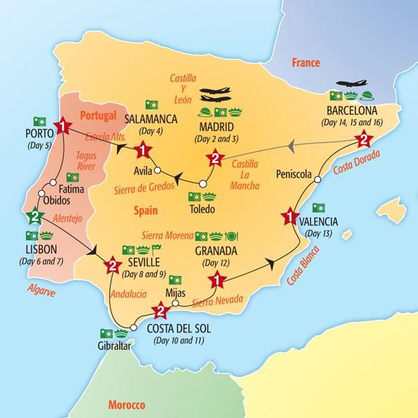 Map Of Spain And Portugal And France.Pin By Footinsole On Backpacker Europe In 2019 Spain Spain Travel