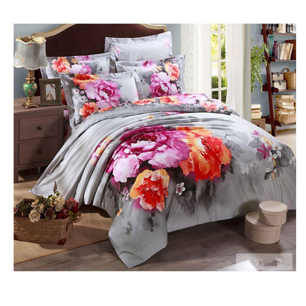 Cotton Active floral printing Quilt Duvet Sheet Cover Sets