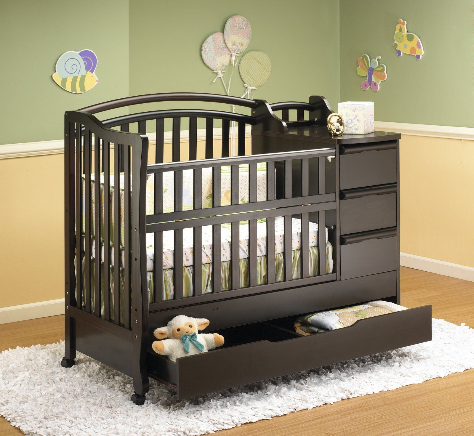 Crib And Changing Table Combo Nursery Ideas Mini Crib